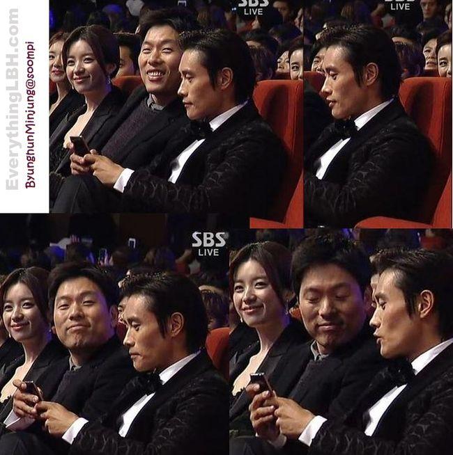 KDramaStars: Lee Byung Hun Congratulates Han Hyo Joo at Blue